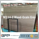 Polished/Honed Natural Wooden Grain Dark Grey Marble Slabs
