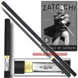 Japanese Zatoichi Katana Shirasaya Sword 1: 1 Black