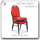 Stackable Black and Red Eating House Durable Chairs (BC-77)