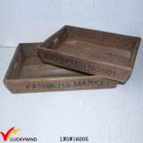 Table Organizer French Farm Fir Recycled Reclaimed Wood Tray