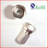 OEM Hot Compression F Connector (4-0004) with RoHS