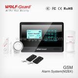 GSM Touch Keypad Burglar Wireless Home Alarm with Cid Protocol.