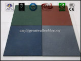 500*500 Thickness 12-50mm Red Green Blue Grey Outdoor Rubber Tile