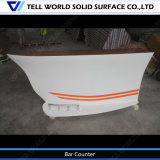 Boat Shaped Modern Design Acrylic Solid Surface Front Desk Hospital Boat Shape Reception Counter