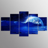 5 Panels HD Planetary Painting Art Picture Living Room Main Wall Decoration Art Canvas