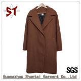Fleece Fashion Long Style Suit Collar Brit Coat Women Outer Wear