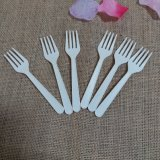 Party Use Disposable Cocktail Forks Cornstarch Biodegradable Cutlery