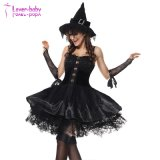 Adult Pretty Girl Witch Dress Halloween Bad Witch Costume L1188