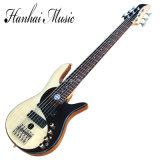 Hanhai 6 Strings Electric Bass Guitar with Gold/Black Hardware