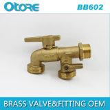 Brass Hose Bibb, Bibcock Double Outlet