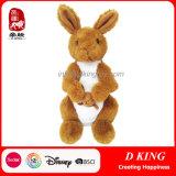 Brown Color Kangaroo Plush Soft Toys Stuffed Animal