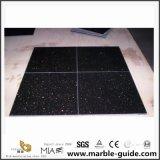 Customized Indian Black Galaxy Granite Tile Natural Stone