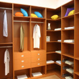 Wood Cabinet Conner Wardrobe with Layer Board and Drawers
