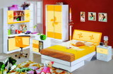 Promotional Cartoon E1 Grade MDF Children Bedroom Furniture (9908A)
