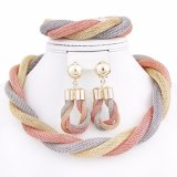 Hot Jewelry Necklace Mesh Design Bracelet Earring Jewelry Set
