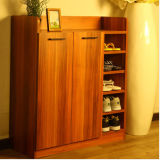 Two Doors Big Shoe Cabinet, Melamine MDF Shoe Cabinet