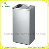Hotel Rectangle Clamshell Stainless Steel Ashtray Bin