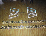 Halo Lit Outdoor Stainless Steel Letters Sign