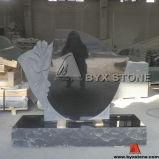 Custom Design Flower Carving Monument / Headstone