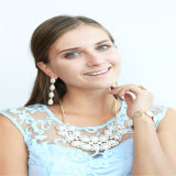 New Design Resin Acrylic Pearl Necklace Bracelet Earring Ring Fashion Jewellery Set