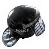 Military with Net Shade Anti-Riot Helmet