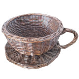 Customized Hand-Made Indoor Willow Flowerpot with Decorative Color
