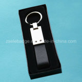 Customized Leather Keyring Packed with Black Box