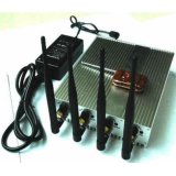 Adjustable Cell Phone 3G and GPS Signal Jammer with Four Bands and Remote Control (SJ-032)