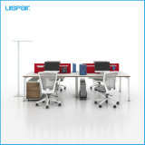 Uispair Modern High Quality MFC Board Telescopic Beam Staff Office Table Whit Workstation Office Furniture