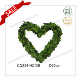 D25cm Party Supplies Decorative Preserved Boxwood Wreath Glass Craft Flower