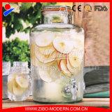 2 Gallon Glass Drinking Beverage Juice Dispenser Jar with Tap