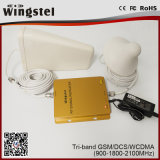 Tri-Band 900/1800/2100MHz 2g 3G 4G Mobile Signal Repeater
