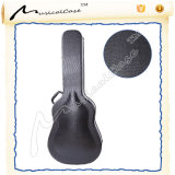 Stylish Alligator Leather Wood Arch Top Guitar Case