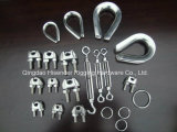 Rigging Hardware, Stainless Steel, Turnbuckle, Wire Rope Clips, Thimble, Ring