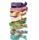 8pk Knotted Hair Ties with Stripe Decoration Hair Accessory