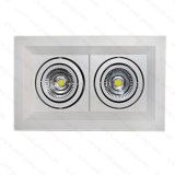 130lm/W Indoor Grille Lightings with Double Head 2*10W
