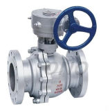 Trunnion Ball Gearbox Cast Steel Stainless Steel Ball Valve