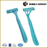 Fixed Handle Twin Blade Disposable Razor Compete with Dorco