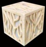 Carving Square LED Lamp Sandstone Garden Light