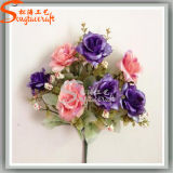 Classic Style Wedding Banquet Decoration Artificial Plant Rose Silk Flowers