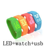 Wholesale USB Flash Drive LED Wrist Watch USB Stick Flash Card USB Pendrives Memory Stick USB Thumb Drive Flash Disk USB Flash