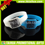 Custom Fashion Qr Code Silicone Wristband with Printed (TH-band043)