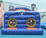 Pirate Theme Exercise Inflatable Obstacle Courses Challenge