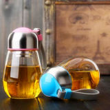 Hot Sale Portable Glass Cup with Lid and Filter Sport Cup
