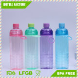 Double Bottle Mouth Plastic Water Bottle with Handle Wide Mouth