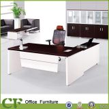 White and Brown Office Boss Table From Guangzhou Office Supplies
