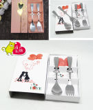 Wedding Gift Heart Fork and Spoon Set Tableware Customize