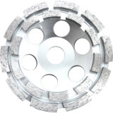 Double Round Diamond Grinding Cup Wheel