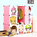 New Style DIY PP Plastic Children Storage Cabinet Box for Clothing Wardrobe