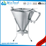 Stainless Steel Kitchen Oil Filter Funnel with Handle and Stand